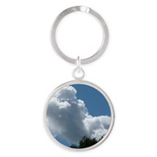 Poodle in Clouds? Round Keychain