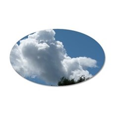 Poodle in Clouds? 35x21 Oval Wall Decal