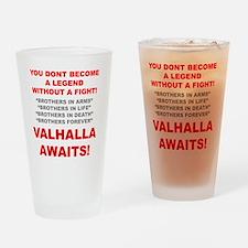 Valhalla Awaits 1 Drinking Glass