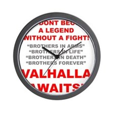 Valhalla Awaits 1 Wall Clock