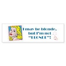 Blonde Bumper Bumper Sticker