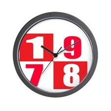 Made In 1978 Designs Wall Clock