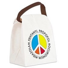 Peace out with Meds Capitals Canvas Lunch Bag