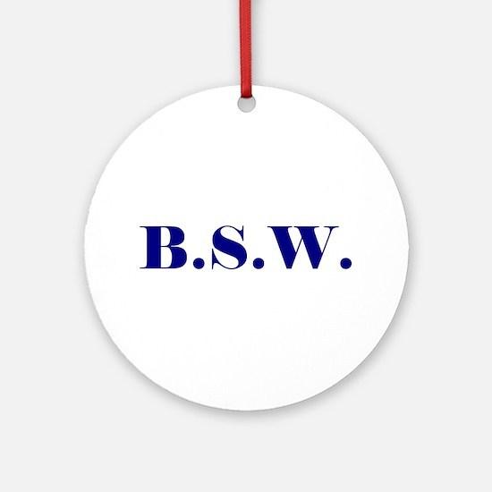 BSW Ornament (Round)