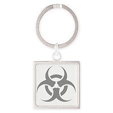 Biohazard Square Keychain