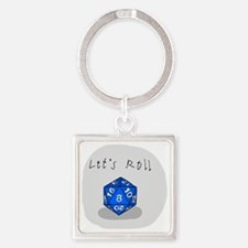 Lets Roll Square Keychain