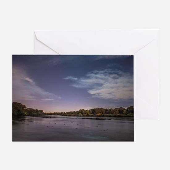 Bosque Nights Greeting Card