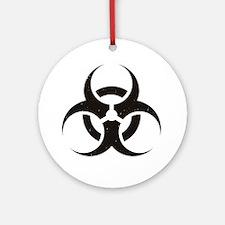 Biohazard Round Ornament