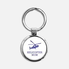 Helicopter Mom Round Keychain