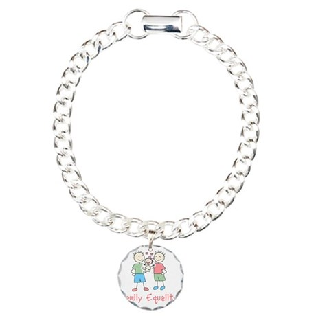 Family Equality Charm Bracelet, One Charm