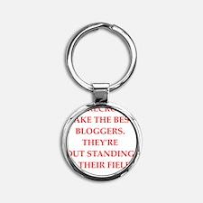 blogger, blogging Round Keychain