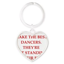 dancer Heart Keychain