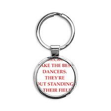 dancer Round Keychain