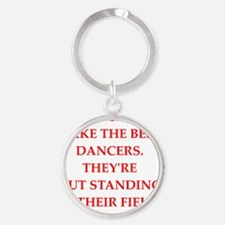 dancer Round Keychain