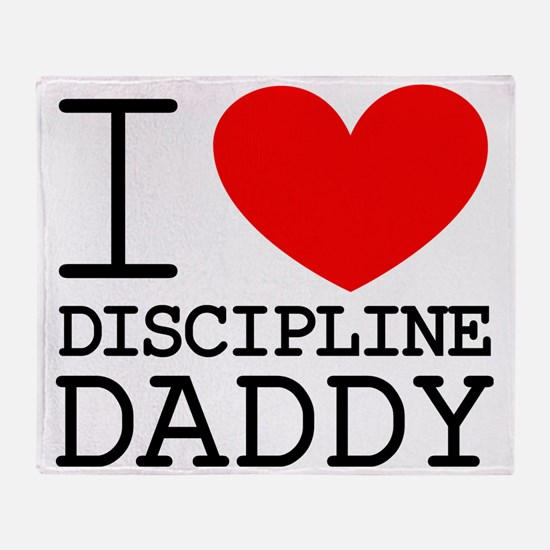 I Heart My Discipline Daddy Throw Blanket