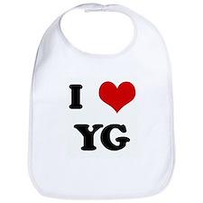 I Love YG Bib