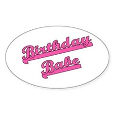 Birthday Babe Oval Decal