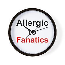 Allergic To Fanatics Wall Clock