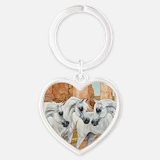 Arabian Horse Heart Keychain