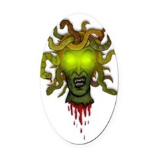 Medusa Oval Car Magnet