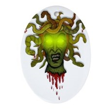 Medusa Oval Ornament