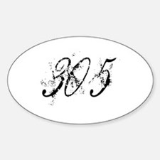 305 Dirty Style Oval Decal