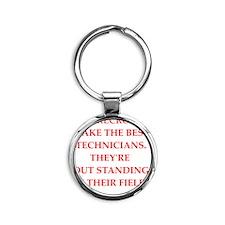 technician Round Keychain