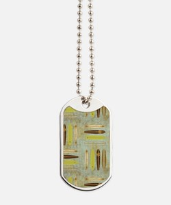 Vintage Beach Surf Boards Dog Tags