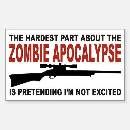 Zombie Apocalypse Sticker (Rectangle)