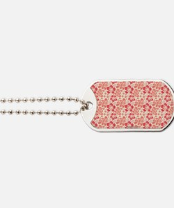 Tropical Hibiscus Pink and Orange Dog Tags