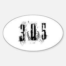 305 F U Las Vegas Style Oval Decal