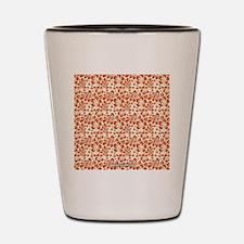 Tropical Carolina Hibiscus Orange Shot Glass