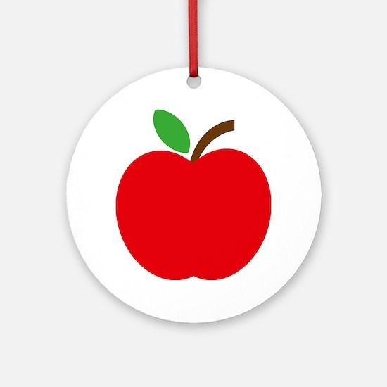 Apfel Round Ornament