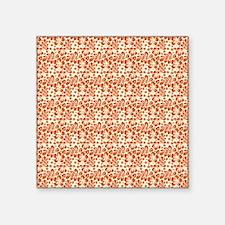 "Tropical Carolina Hibiscus  Square Sticker 3"" x 3"""