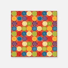 """Colorful Beach Umbrellas Su Square Sticker 3"""" x 3"""""""