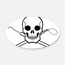 Chompy Chompy Pirates Oval Car Magnet