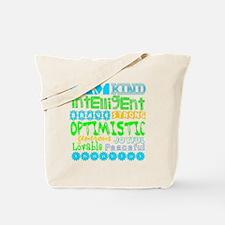 Positive Affirmations (Blue/Greens) Tote Bag