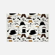 Mustache Ladies and Gentlemen Rectangle Magnet