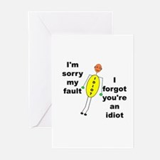 Your'e An Idiot Greeting Cards (Pk of 10)
