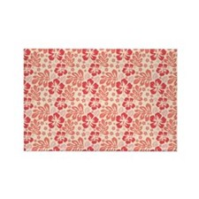 Tropical Hibiscus Pink and Orange Rectangle Magnet