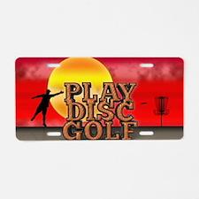 Play Disc Golf Aluminum License Plate
