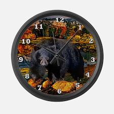 Bear Lookout Large Wall Clock