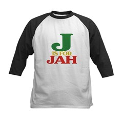 J is for Jah Kids Baseball Jersey