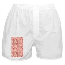 Tropical Hibiscus Pink and Orange Boxer Shorts