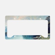 Fjord in Norway, painting by  License Plate Holder