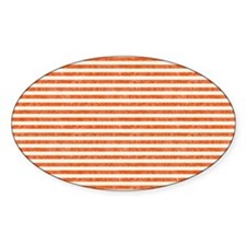Vintage Orange and White Beach Stri Decal