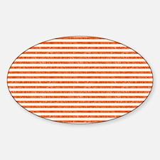 Vintage Orange and White Beach Stri Decal