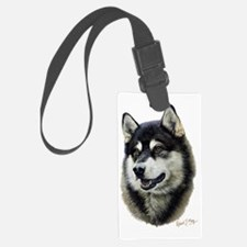 Alaskan Malamute Head Luggage Tag