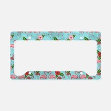Flamingos License Plate Holder