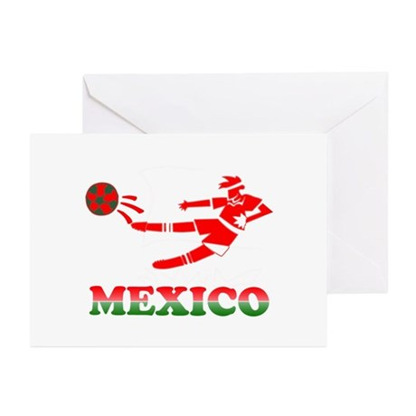 Mexican Soccer Player Greeting Cards (Pk of 10